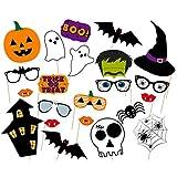Soochat Halloween Photo Booth Props DIY Kit for Halloween (22Pcs)