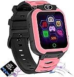 Jaybest Smartwatch Niños, Reloj Inteligente Niños de MP3 1.44 Pantalla Táctil en Color con Llamada Juego Cámara Música (Pink)