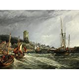 Bough Dysart Harbour Scotland 1854 Painting Large Wall Art