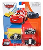Disney Pixar Cars - Mini Racers 3 Pack - APB, Sheriff and Officer Lightning Mcqueen