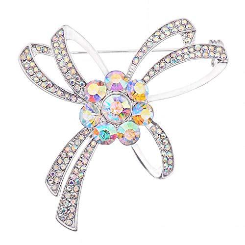 XONGZZJ Brosche,Klassische Kristall Strass Chinesische Orchidee Pavillon Blume Broschen Pins Für Frauen Hochzeitssträuße Dame Anzug Mantel Edlen Schmuck