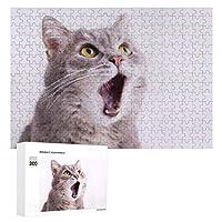 口を開けた猫 300ピースのパズル木製パズル大人の贈り物子供の誕生日プレゼント