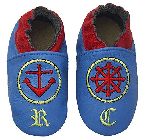 Rose & Chocolat Chaussures Bébé Sailor Blue Taille 20/21 EU 6-12 Mois