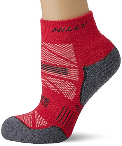 Hilly Anklet Womens Socks - Magenta/Grey Marl, M, HI-002649HI00069M