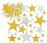 Baker Ross Pegatinas de Estrellas con Purpurina en Color Dorado y Plateado (Paquete de 150) Para...