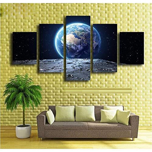 wangjingjing1 nieuwe muurkunst 5 stuks aarde scape plant moderne gedrukte foto's wooncultuur afbeelding schilderen op canvas foto's zonder lijst 20X35/45/55CM Met frame.