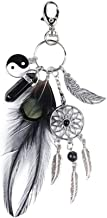 Brave669 Clearance Deals!!Boho Women Turquoise Dream Catcher Feather Tai Chi Evil Eye Charm Key Chain Gift Black