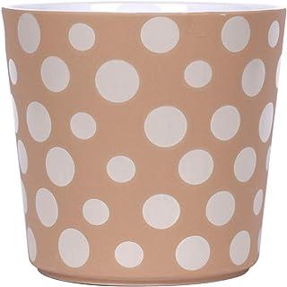 Blue Sky Ceramic Polka Dot Sand 5' Flower Pot, Multi Color