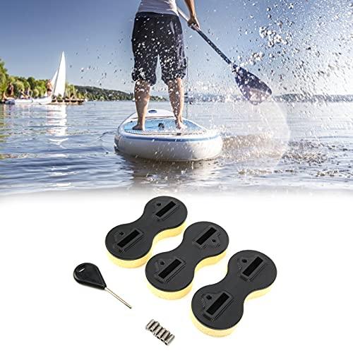 Juego de Caja de Aletas, Caja de Aletas para Tabla de Surf PVC Fuerte con Tornillo para Practicar Surf(5 Grados)