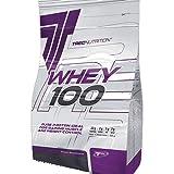 Trec Nutrition Whey 100, Complejo Proteínico, Sabor Mantequilla de Cacahuete - 900 gr