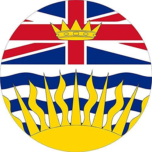 LYMT La Cubierta de la llanta de refacción de la Bandera de Columbia Británica se Adapta a Las Aberturas de la cámara de Respaldo montadas centradas 255 / 70r18
