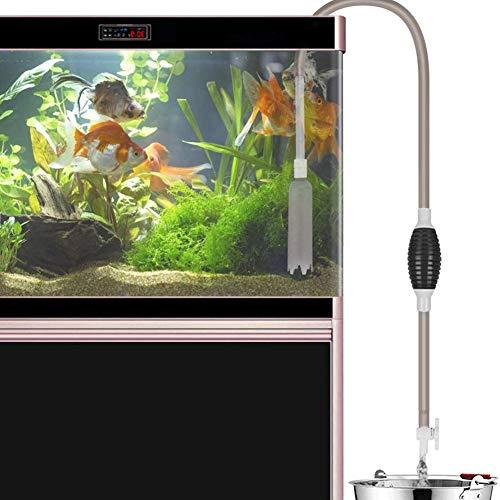 BRKURLEG Fish Tank Cleaner Aquarium Vacuüm Siphon Pomp 2.6M met Flow Control Tap - Draagbare Handmatige Auto Brandstof Transfer Pomp - Automatische Vloeistoffen Transfer Zelf Priming