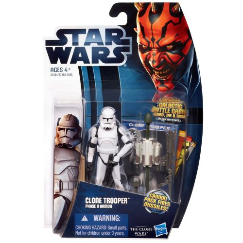 Hasbro Star Wars The Clone Wars Clone Trooper Phase II Armor 3.5 Inch Scale Action Figure CW2