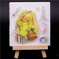 女の子の透明なクリアシリコーンスタンプ/DIYスクラップブッキング/フォトアルバム用シール装飾的なクリアスタンプ3 g