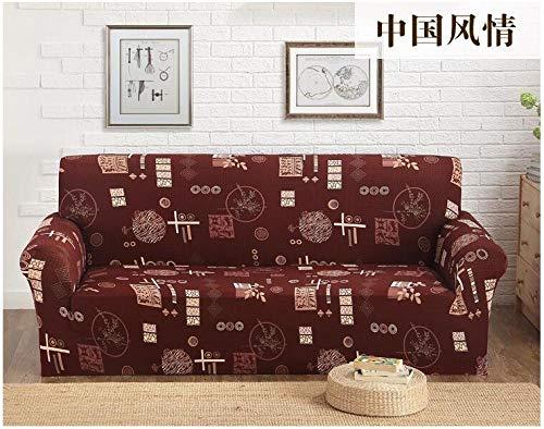 Funda Sofa Elastica Protector Adaptable,Four Seasons Universal Cushion Cover, Elastic Non-Slip Sofa Cover, Full Cover Sofa Furniture Dust Protection Cover-Color 9_235-310cm