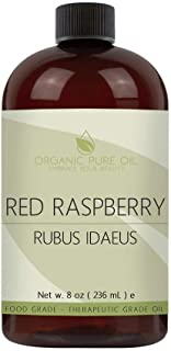 Red Raspberry Seed Oil - 100% Pure & Organic Cold Pressed Red Raspberry Oil Extra Virgin Unrefined Premium Pharmaceutical ...