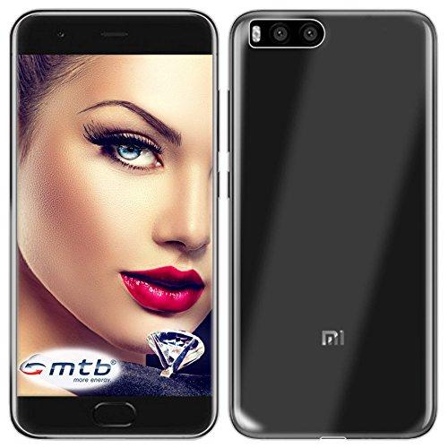 mtb More Energy® Funda Clear & Slim para Xiaomi Mi 6 Mi6 (5.15'') - Transparente - Flexible - Delgada - Gel TPU Silicona Carcasa Suave Cascara