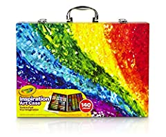 Includes 1 Crayola Inspiration Art Case Coloring Set with 64 Crayons, 20 Short Colored Pencils, 40 Washable Markers and 15 Large Pieces of Paper (measuring approximately 9 x13) With a place for everything, this crayon and marker organizer helps keep ...