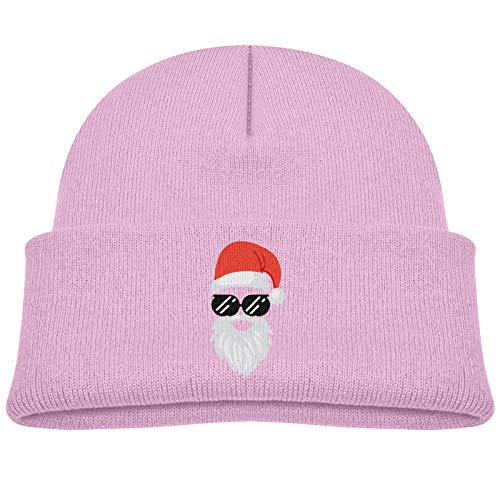 ABCEEEK Unisex Navidad - Santa Claus Gafas de sol Cara Niños Sombrero Niños Suave Beanie Sombrero Niños Niñas Elasticidad Sombreros para Bebé