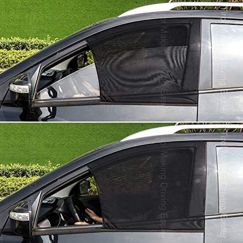 Tirol Front Side Window Sunshades 2 Pack Universal Car Front Sun Visor Protector Mesh Fabric product image