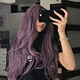 Femme Romatic Coiffure Long Violet moitié Main Tied ondulée Party Cheveux naturels...