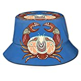Bucket Hat Packable Reversible Cancer Zodiac Print Sun Hat Fisherman Hat Cap Camping al Aire Libre