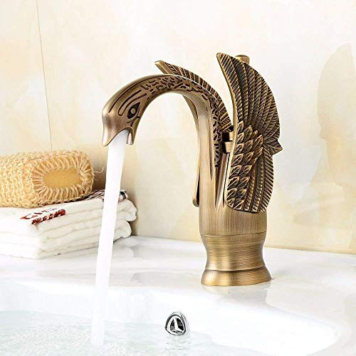 Big Save! High Water Flow Single-Handle Kitchen Mixer Sink Tap Kitchen Faucet Vintage swan Shape hot...
