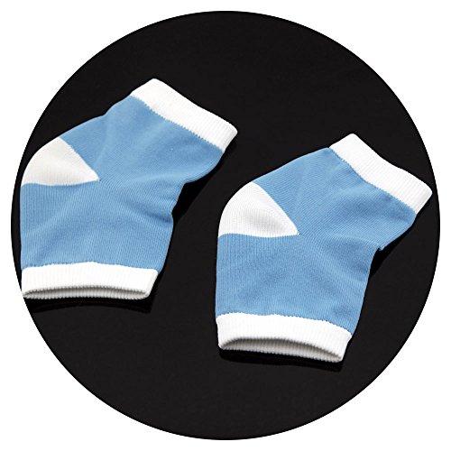 1 paire de chaussettes de talon en gel hydratant pour peau sèche pour craquelée Bout Ouvert confortable Chaussettes de récupération