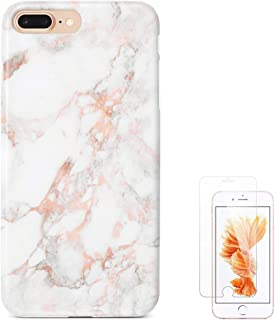 uCOLOR Rose Gold Marble Case Compatible with iPhone 8 Plus 7 Plus (5.5