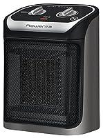 rowenta so9260f0 - termoventilatore in ceramica, mini excel, 2 impostazioni di temperatura calda, protezione riscaldamento, ventilazione fredda, ventilatore 1800 w, colore: grigio e nero