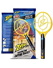 ZAP IT! Bug Zapper - Rechargeable Mosquito, Fly Swatter/Killer and Bug Zapper Racket - 4,000 Volt USB Charging, Super-Bright LED Light to Zap in the Dark (Large)