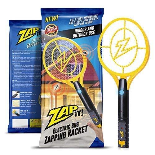 ZAP IT! para Exterminador-Raqueta matamosquitos-Carga USB de 4000 voltios, Luz...