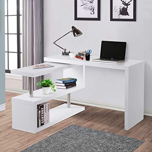 HOMCOM Mesa de Ordenador Mesa Despacho Reversible para Hogar ...