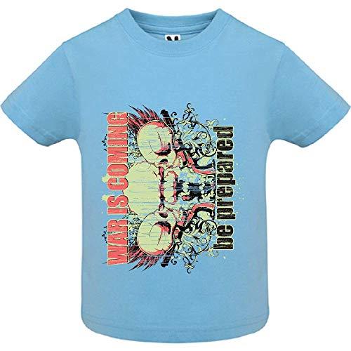 LookMyKase T-Shirt - War is Coming - Bébé Garçon - Bleu - 12mois