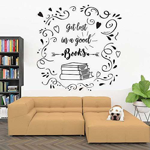 fdgdfgd Libri Adesivi murali libreria educazione Finestra vetrina Adesivo in Vinile libreria Sala Lettura Biblioteca Decorazione d'interni murale 74x75 cm