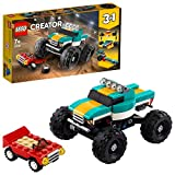 LEGO Creator - Monster Truck, 4x4 de Juguete, set 3 en 1, Construye un...