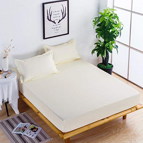 XGguo Protector de colchón Acolchado - Microfibra - Transpirable - Funda para colchon estira hasta Sábana Impermeable cepillada impresión en Color sólido-14_180x200x28cm