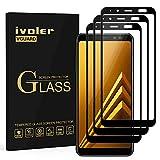 ivoler [3 Unidades] Protector de Pantalla Compatible con Samsung Galaxy A8 2018, [Cobertura Completa] Cristal Vidrio Templado Premium, [Dureza 9H] [Anti-Arañazos] [Sin Burbujas]