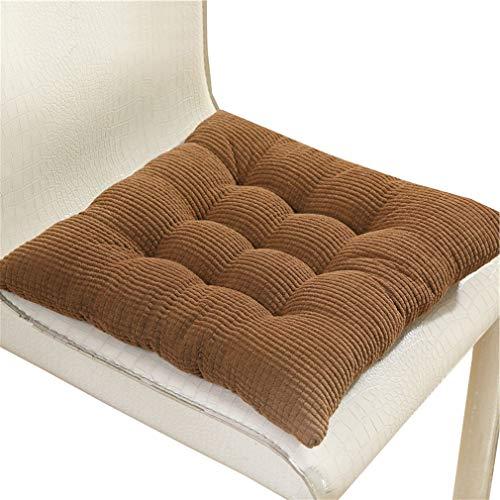 Bigood Corderoy - Funda para sillón de Oficina o casa, multifunción, Gruesa y Suave, Pana, café, 40 x 40 cm