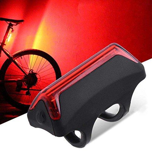 flower205 LED lumières de vélo Set vélo USB rechargeable (Rouge) nouveau lumières et lampe de tête lumière de lanterne de cycle fixe