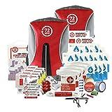 72HRS Kit de préparation aux séismes de luxe, trousse d'urgence, kit de survie, kit de catastrophe, kit ouragan pour 1 à 4 personnes