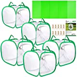 Pllieay 5PCS 12 Inch Tall Butterfly Habitat Cage with Instructions and PVC Floor Covers, Collapsible Light-transmitting Terrarium White Insect and Butterfly Net for Kids Raising Insects