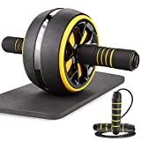 AUOPLUS Ab Roller for Abs Workout, 3.5'' Ab Roller Wheel Home Gym Equipment for Abdominal Exercise,...