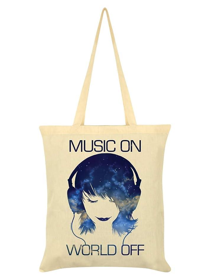 不名誉方法論同一の(グラインドストア) Grindstore オフィシャル商品 Music On World Off トートバッグ エコバッグ