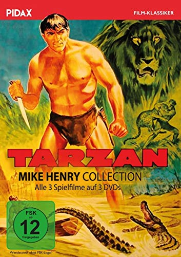 Tarzan - Mike Henry Collection / Alle 3 Tarzan-Abenteuer mit Mike Henry in einer Sammlung (Pidax Film-Klassiker) [3 DVDs]
