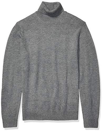 Amazon Brand - Goodthreads Men's Supersoft Marled Turtleneck Sweater, Heather Grey Small