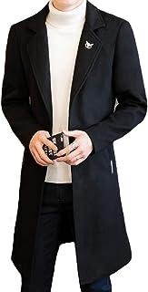 JHIJSC コート ロング メンズ ジャケット チェスターコート ビジネス シンプル 秋冬 防寒 無地 大きいサイズ
