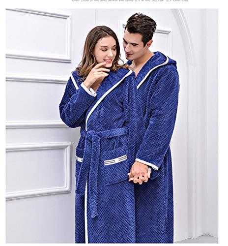 SleepWears Nachtkleding Nachtjapon Flannel Badjas Verdikking Lange Alinea Herfst En Winter Paar pyjama