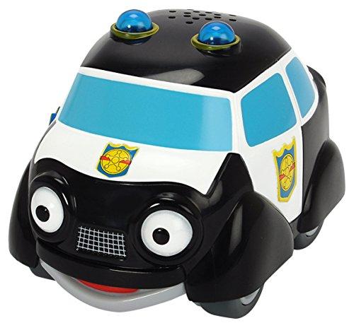 Dickie Toys - Helden der Stadt, Paul Polizei, das Polizeiauto mit Licht, originalen Liedern, Sounds und Freilauffunktion, inkl. Sammelkarte mit Geheimcode