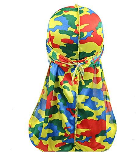 Just Contempo - Copricapo in seta con motivo cachemire, con coda lunga e cinghie larghe per 360 onde, colori assortiti -  multicolore -  Taglia unica